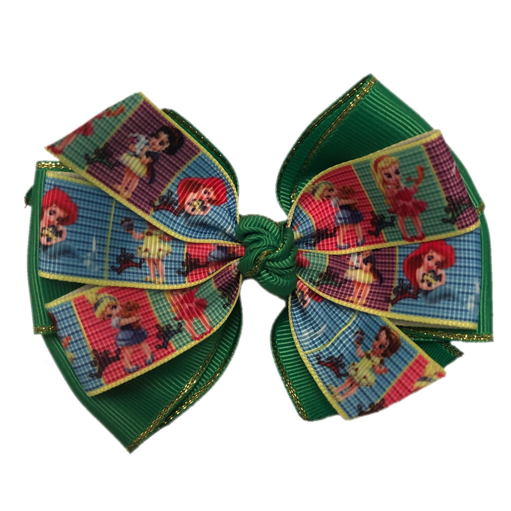 Large Character Hair Bow - Little Princess Kingdom