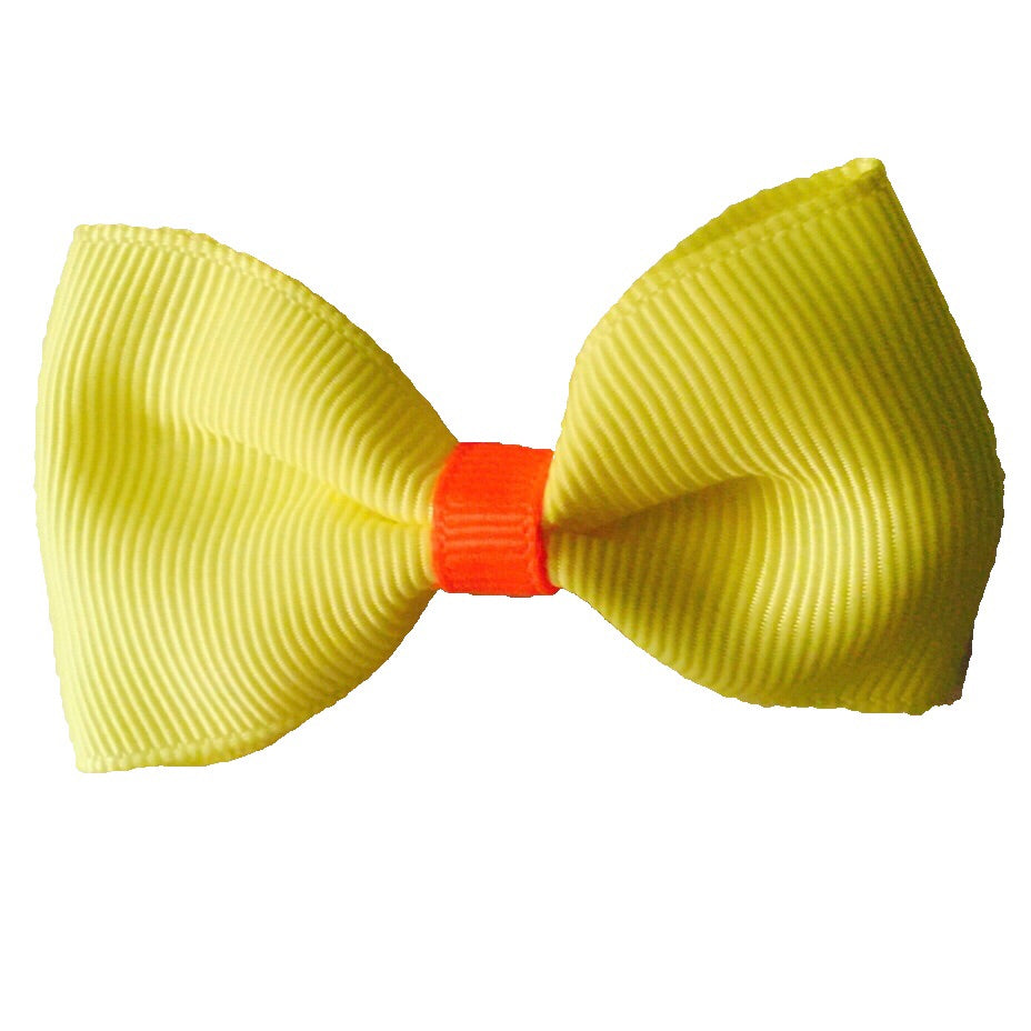 Small Neon Hair Bow Tie