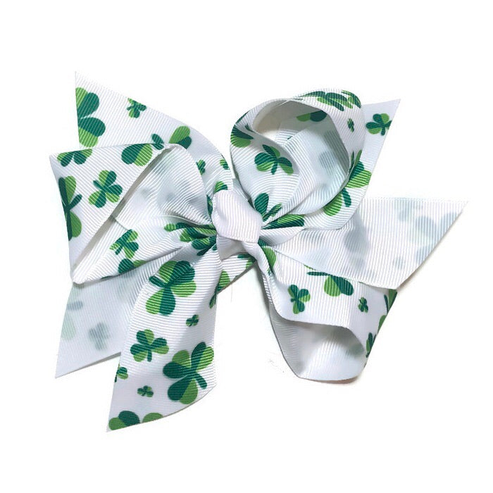 Jumbo Hair Bow - Clover