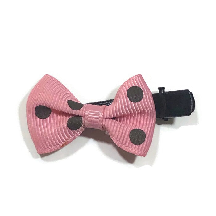 Mini Polka Hair Bow - Cutie Bowtutie