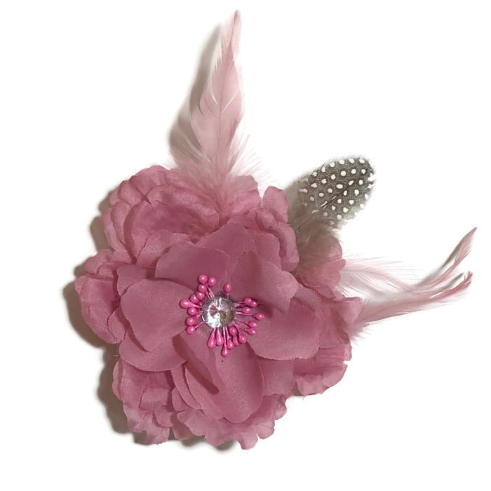 Pink Feathered Flower - Large