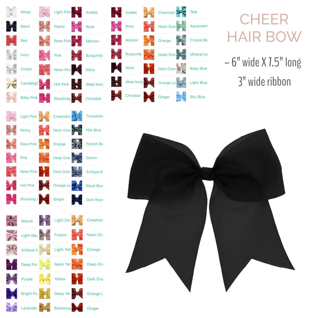 Hair Bow by Color - Cheer Style