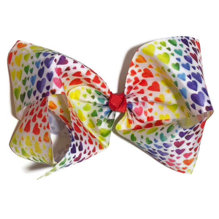 Gigantic Hair Bow - Hearts