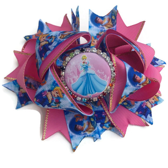 Boutique Character Hair Bow - Cinderella - Cutie Bowtutie