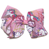 Gigantic Hair Bow -  Cartoon Unicorn - Cutie Bowtutie