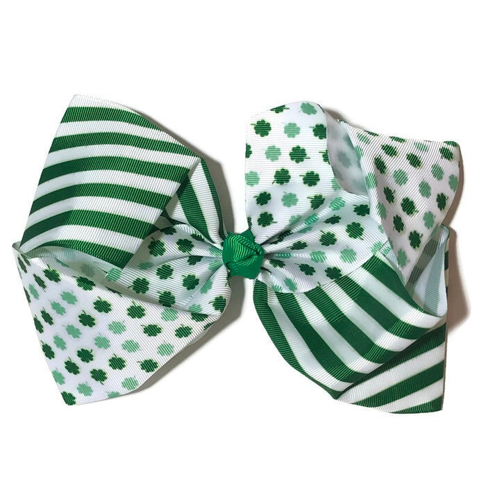 Gigantic Hair Bow - Clover
