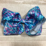 Gigantic Handmade Hair Bow - Mermaid - Cutie Bowtutie
