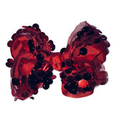 Large Hair Bow - Red Big Sequin - Cutie Bowtutie