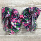 Gigantic Handmade Hair Bow - Preppy Plaid - Cutie Bowtutie