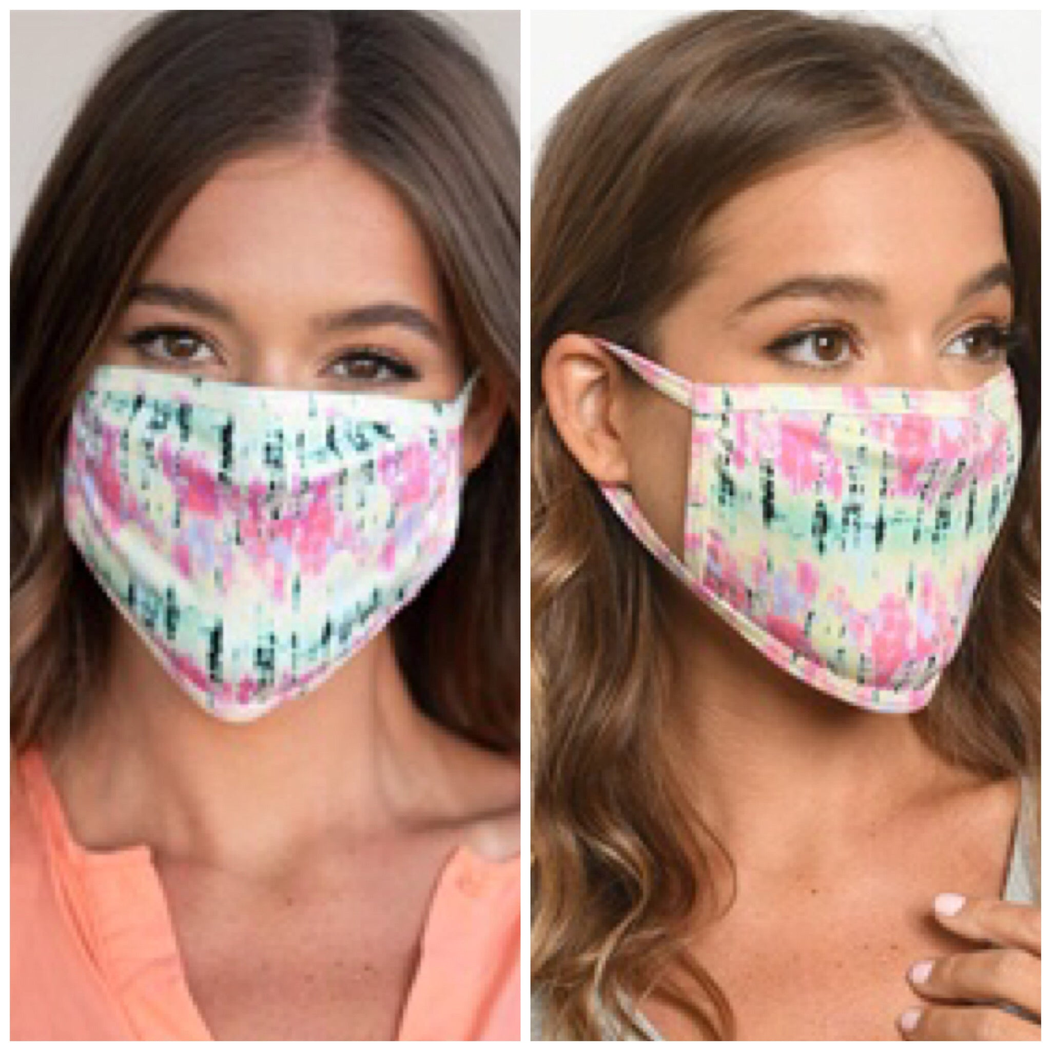 Reusable Face Mask - Tie Dye Multi