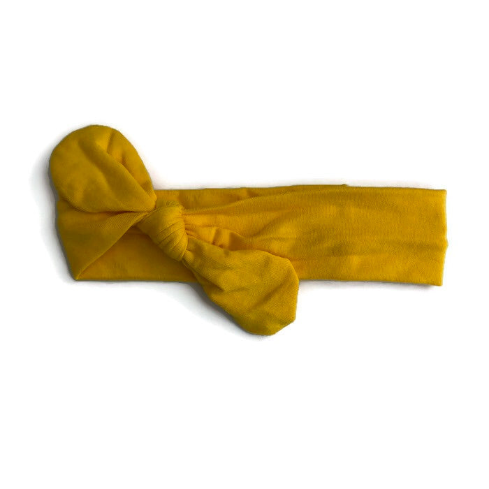Boutique Knot Headband - Yellow - Cutie Bowtutie