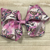 Gigantic Handmade Hair Bow - Purple Unicorn - Cutie Bowtutie