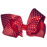 Jumbo Hair Bow - Red Small Polka - Cutie Bowtutie