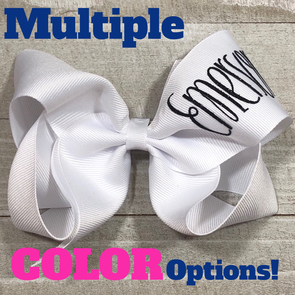 Monogram Hair Bows - Jumbo