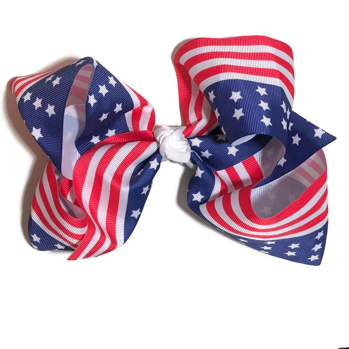 Gigantic Hair Bow - American Flag