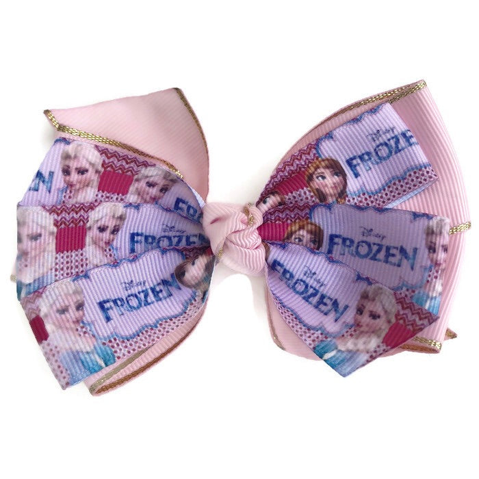 Large Character Hair Bow - Frozen - Cutie Bowtutie