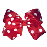 Jumbo Hair Bow - Red Medium Polka - Cutie Bowtutie
