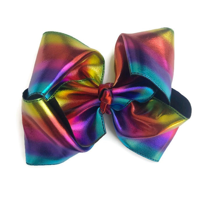 Gigantic Hair Bow - Metallic Tie Dye