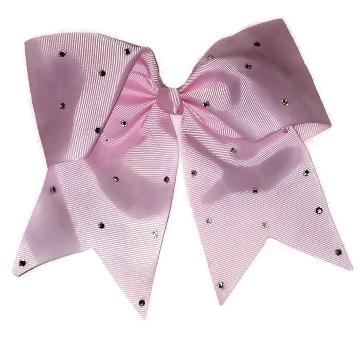 Cheer Bow - Light Pink Rhinestone