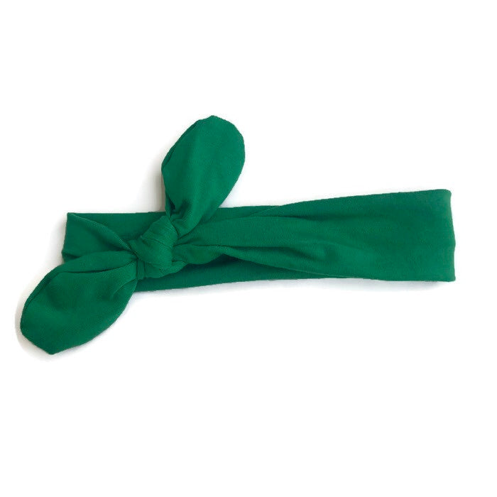 Boutique Knot Headband - Kelly Green