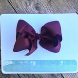 Gigantic Hair Bow - Maroon