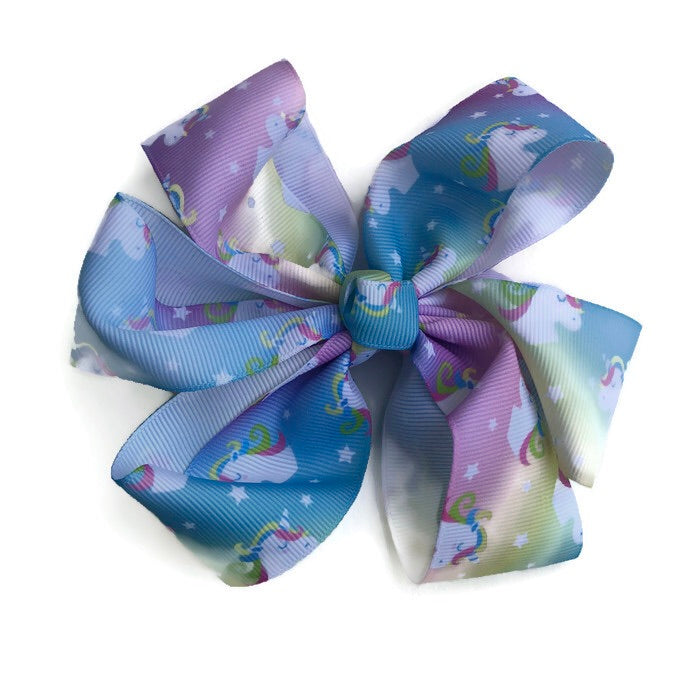 Jumbo Hair Bow - Unicorn Tie Dye