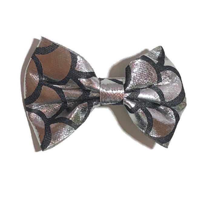 Small Metallic Mermaid Hair Bow - Cutie Bowtutie