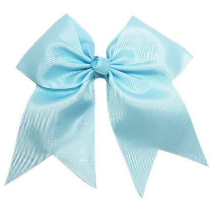 baby blue cheer bow