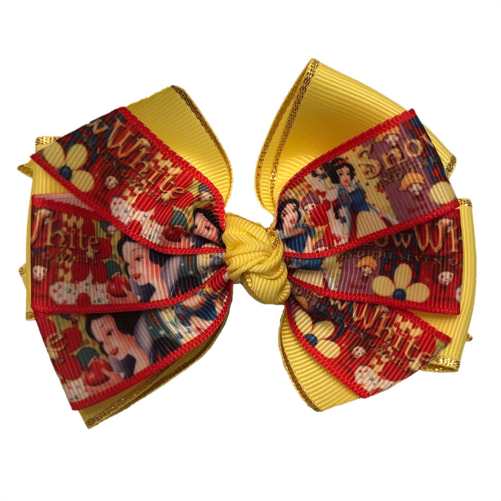 Large Character Hair Bow - Snow White