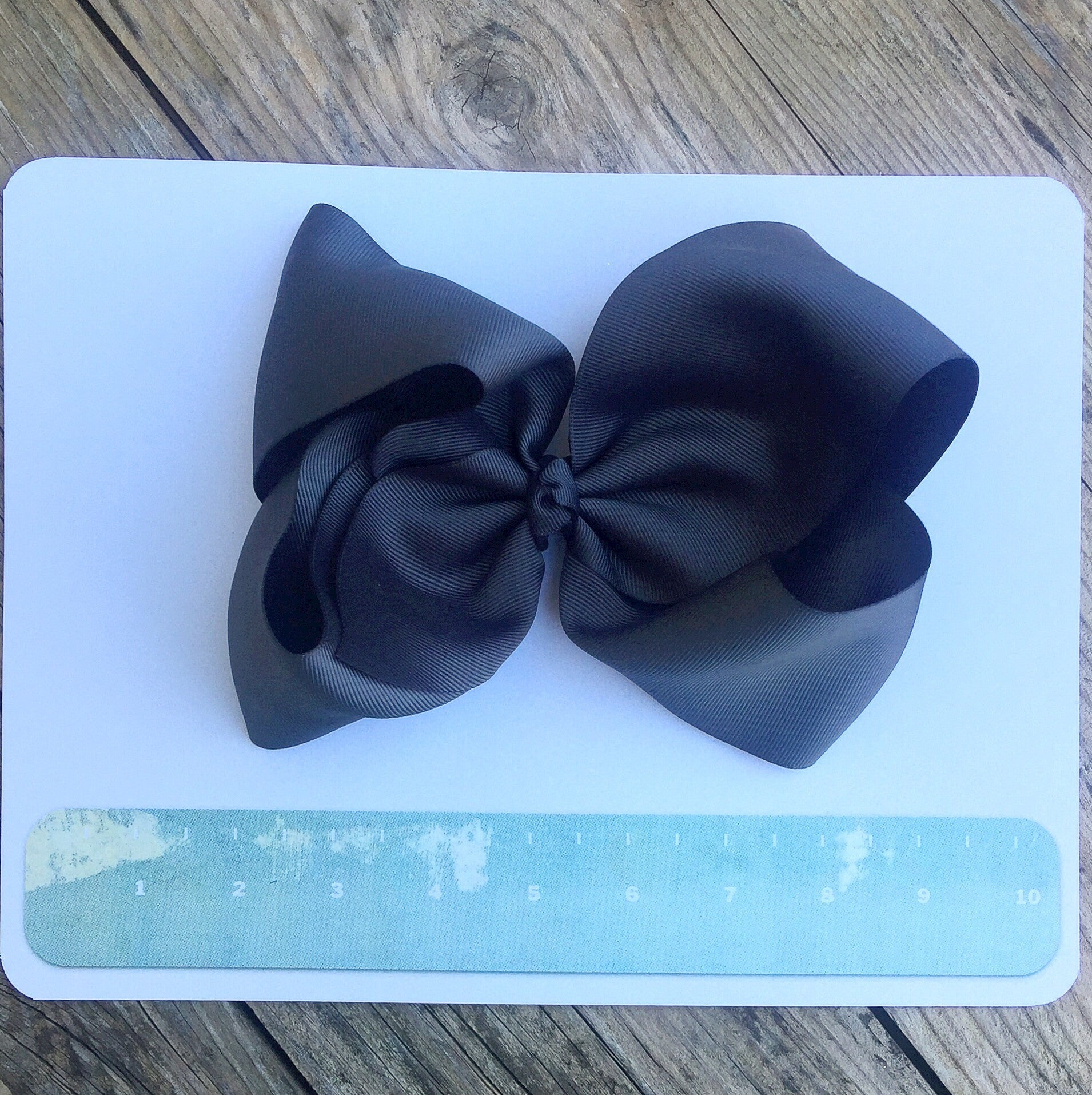 Gigantic Hair Bow- Charcoal - Cutie Bowtutie