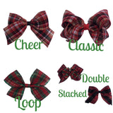 Design A Christmas Bow- Double Stacked Classic Bow - Cutie Bowtutie