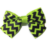 Mini Chevron Hair Bow - Cutie Bowtutie