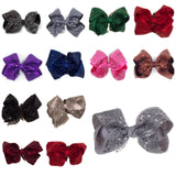 Jumbo Sequin Hair Bow - Cutie Bowtutie
