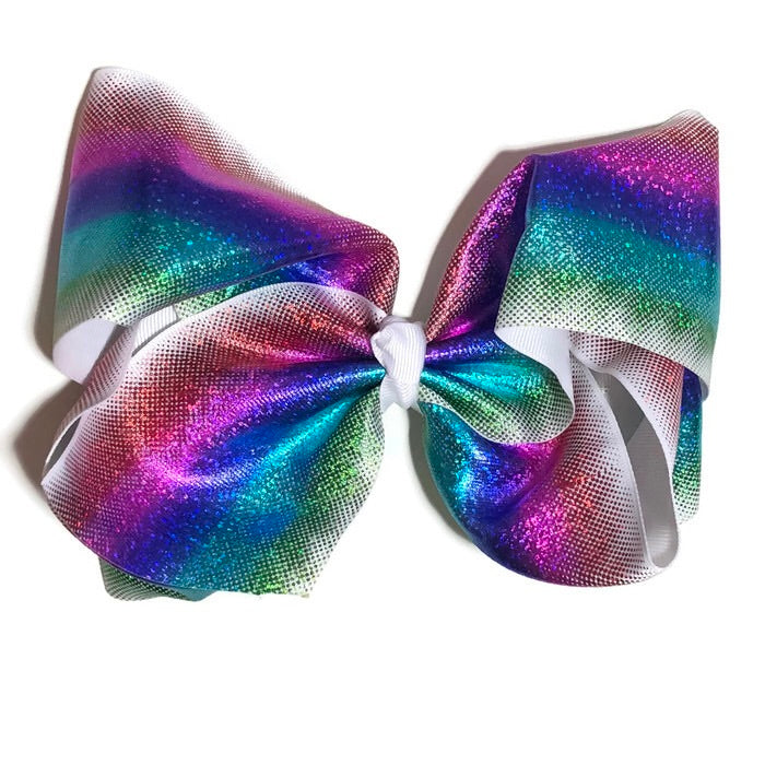 Gigantic Hair Bow -  Metallic Stripe II - Cutie Bowtutie
