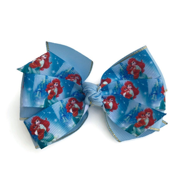 Large Character Hair Bow - Mermaid - Cutie Bowtutie