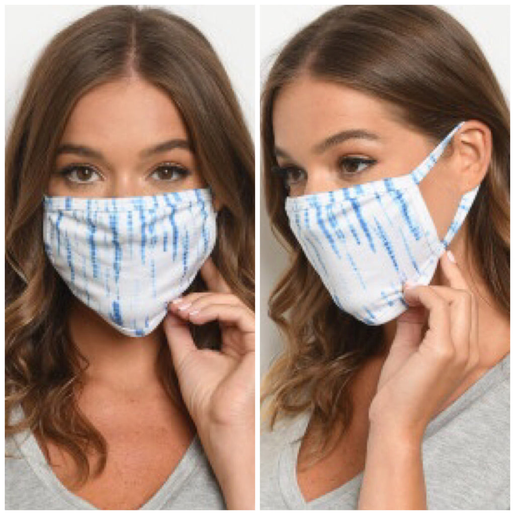 Reusable Face Mask - Blue Tie Dye