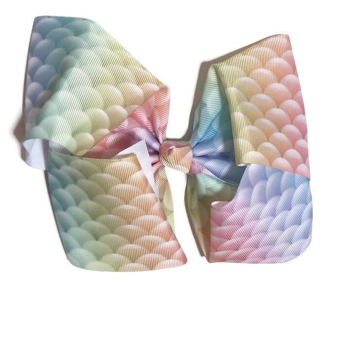 Gigantic Hair Bow -  Pastel Mermaid - Cutie Bowtutie
