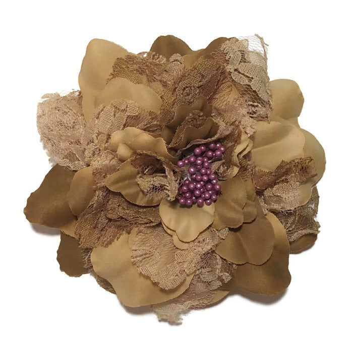 Brown Lace Flower- Large