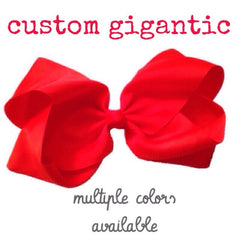 Custom Gigantic Hair Bow - Cutie Bowtutie