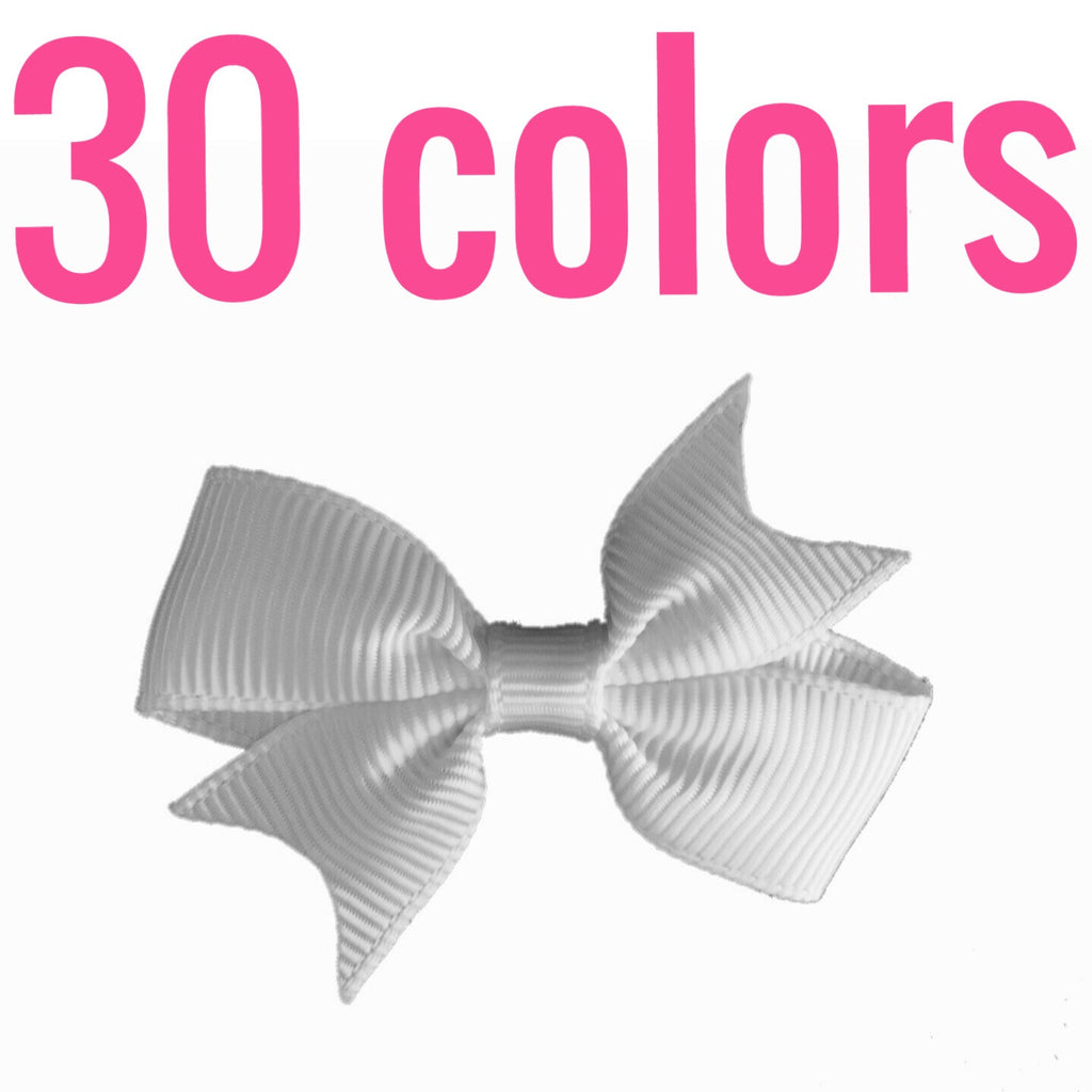 Mini Hair Bows By Color