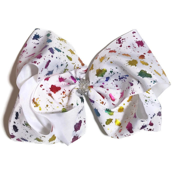 Gigantic Hair Bow - Metallic Splattered Paint