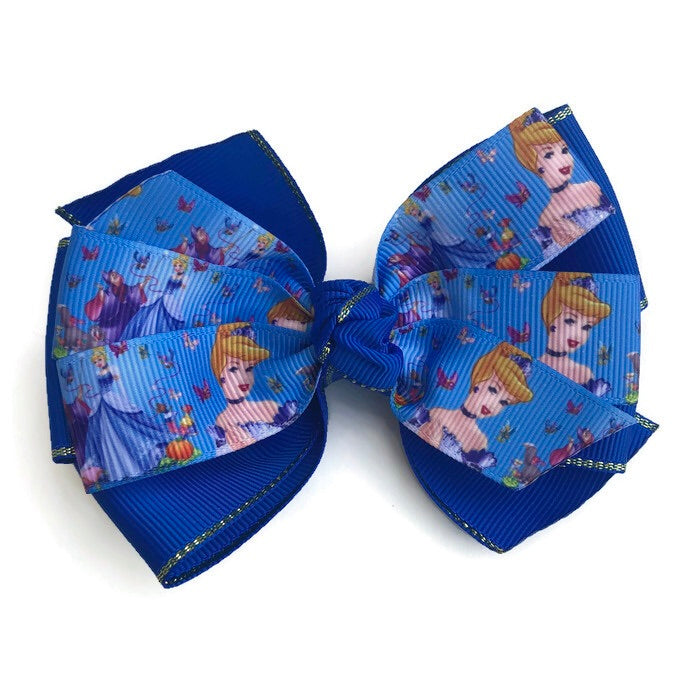 Large Character Hair Bow - Cinderella