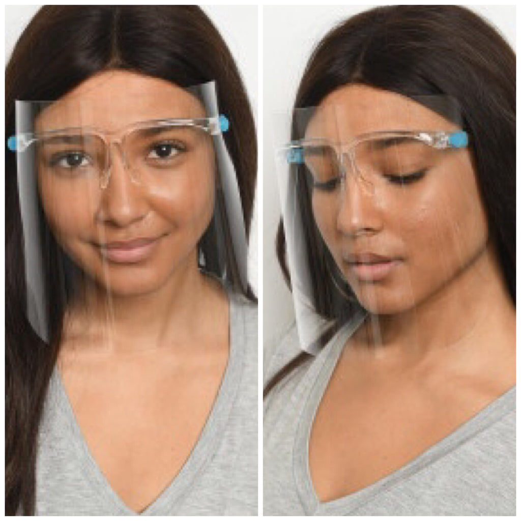 Face Shield Attached to Glasses