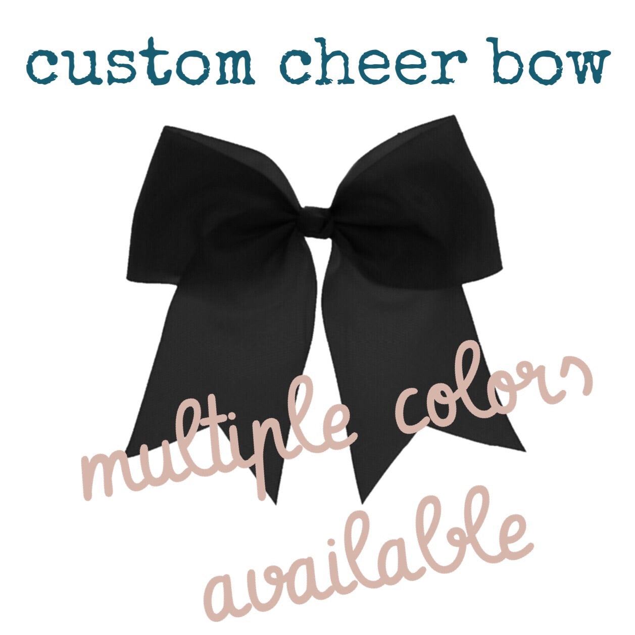 Handmade Custom Cheer Bow - Cutie Bowtutie