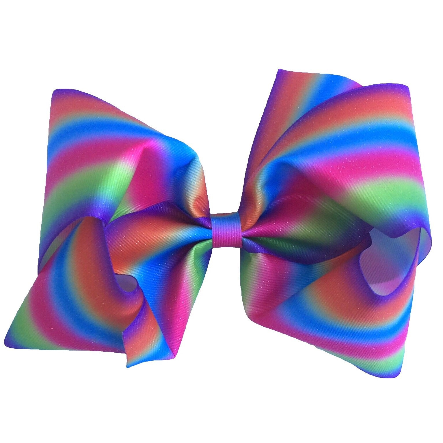 Gigantic Hair Bow- Rainbow Stripe - Cutie Bowtutie