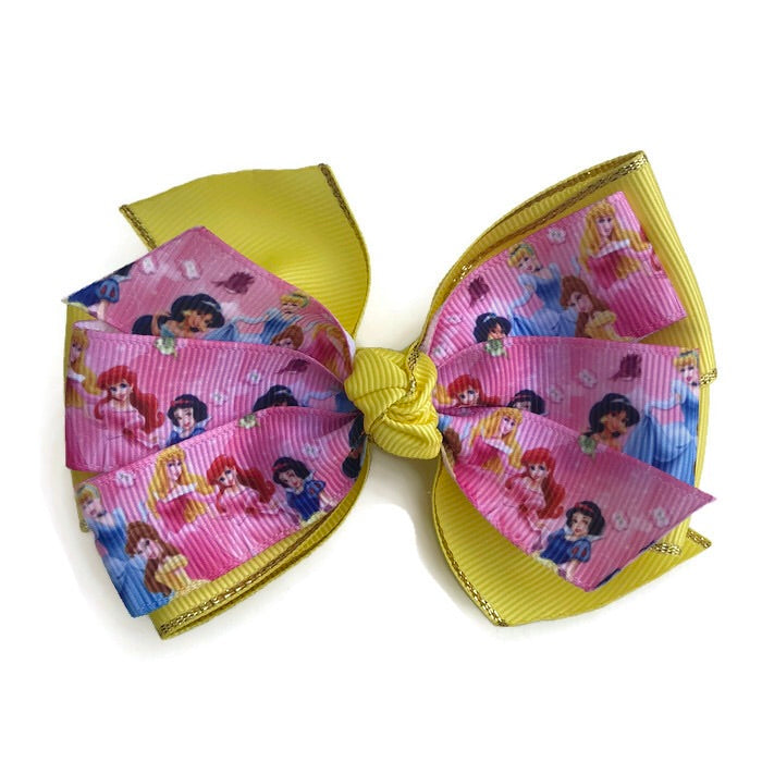 Large Character Hair Bow - Princess - Cutie Bowtutie