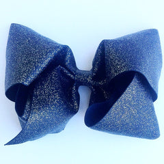 Boutique Gigantic Hair Bow - Navy Glitter - Cutie Bowtutie