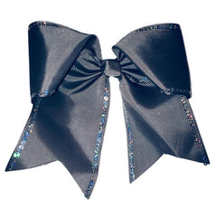 Cheer Bow - Gray Sequin
