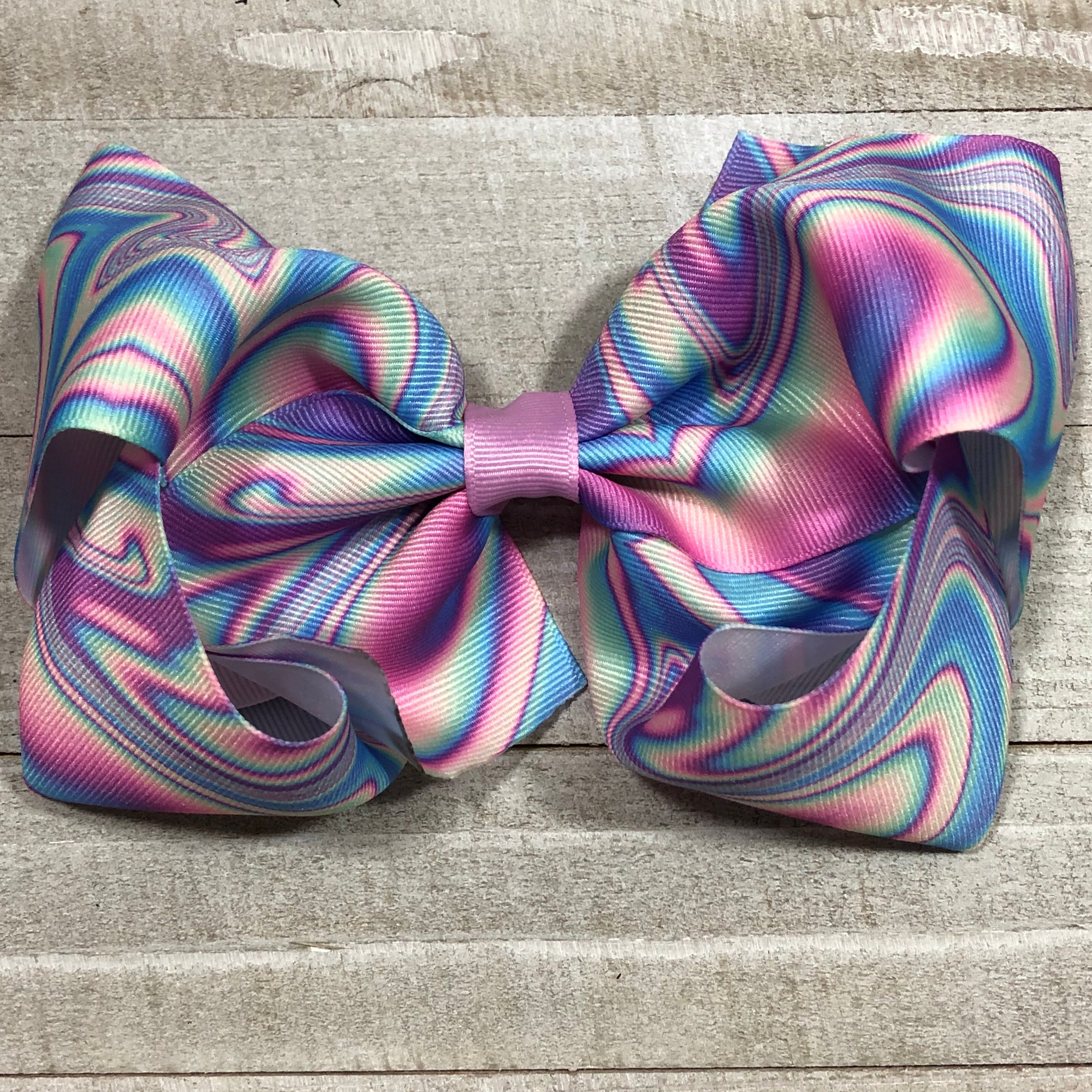 Gigantic Handmade Hair Bow - Marbled Paint - Cutie Bowtutie