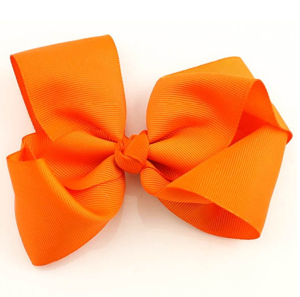 Jumbo Hair Bow - Deep Orange